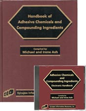 Handbook of Adhesive Chemical and Compounding Ingredients Book and Software